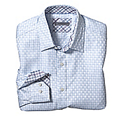 TAILORED FIT REVERSED SQUARES SHIRT