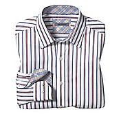 TAILORED FIT ALTERNATING STRIPE SHIRT
