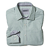 TAILORED FIT MINI DOUBLE-STRIPE SHIRT