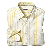 TAILORED FIT SEERSUCKER TRIPLE STRIPE SHIRT
