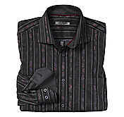 TAILORED FIT PAISLEY JACQUARD STRIPE SHIRT
