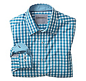 TAILORED FIT BORDERED GINGHAM SHIRT