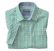 TAILORED FIT FRAMED GINGHAM CAMP SHIRT