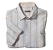 TAILORED FIT SEERSUCKER VARIEGATED STRIPE SHIRT