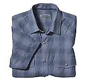 SLIM FIT BLUE SHADOW OMBRÉ CHECK SHIRT