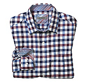 TAILORED FIT HERRINGBONE TWILL CHECK SHIRT