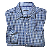 TAILORED FIT TWO-TONE SQUARES SHIRT