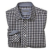 TAILORED FIT FRAMED GINGHAM SHIRT