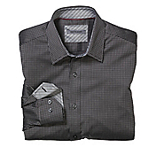 TAILORED FIT MICRO SQUARES SHIRT