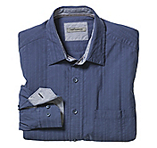 TAILORED FIT WASHED TEXTURED SOLID SHIRT
