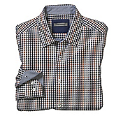 TAILORED FIT TEXTURED GINGHAM SHIRT