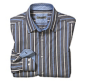 TAILORED FIT DOUBLE ROPE STRIPE SHIRT