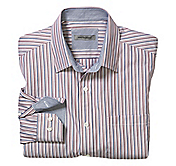 TAILORED FIT FINELINE TEXTURED STRIPE SHIRT