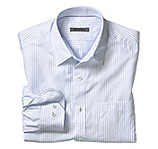 TAILORED FIT FINE STRIPE SHIRT