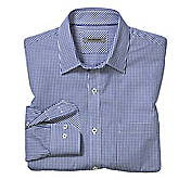 TAILORED FIT MINI GINGHAM SHIRT