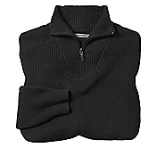 FUNNEL NECK QUARTER-ZIP SWEATER