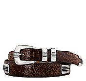 EMBOSSED CROC CONCHO BELT