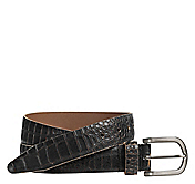 CROC-EMBOSSED CASUAL BELT