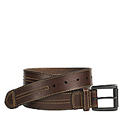 DOUBLE CENTER-STITCHED BELT