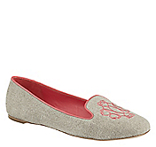 RILEY EMBROIDERED SLIPPER