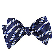 TRIPLE STRIPE SILK BOW TIE