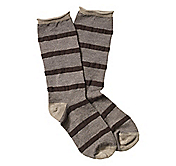 OTOMAN-STRIPE WOOL BLEND CREW SOCKS