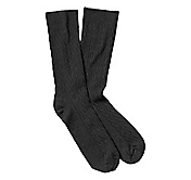 SOLID CABLE WOOL BLEND SOCKS