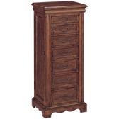 2 Door 7 Drawer Jewelry Armoire