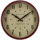 Billiard Wall Clock-Jupiter-Round-Red