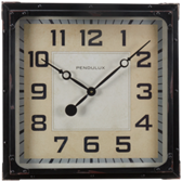 Billiard Wall Clock-Gas Station Black
