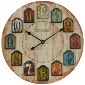 Weathered Plank Wall Clock