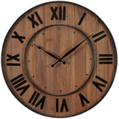 Wall Clock-Wine Barrel
