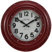Billiard Wall Clock-Round Red