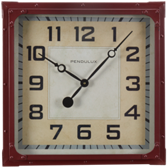 Billiard Wall Clock-Gas Station Red
