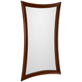 Antique Mahogany Leaner Mirror