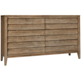 Corliss Land 6 Drawer Louvered Dresser
