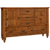 Summerhill 5 Drawer 2 Door Dresser