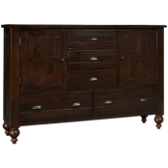 Castlewood 5 Drawer 2 Door Dresser
