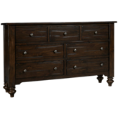 South Pine 7 Drawer Dresser