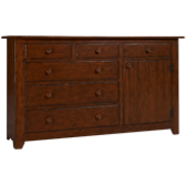 Homecoming 6 Drawer 1 Door Dresser