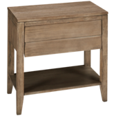 Corliss Land Louvered Drawer Nightstand
