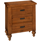 Summerhill 3 Drawer Nightstand
