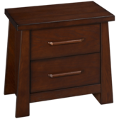 Zen Mahogany 2 Drawer Nightstand