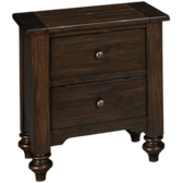 South Pine 2 Drawer Nightstand