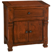 1 Drawer 2 Door Nightstand