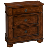 Southern Pines 3 Drawer Nightstand