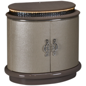 Upholstered 2 Door Nightstand