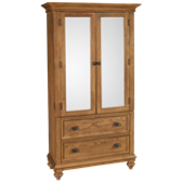 2 Door 2 Drawer Armoire