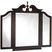 Broken Pediment Tri View Mirror