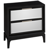 Luxe 2 Drawer Nightstand with Mirror Fronts